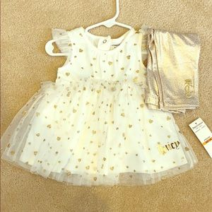 Juicy Couture 12M White & Gold Set